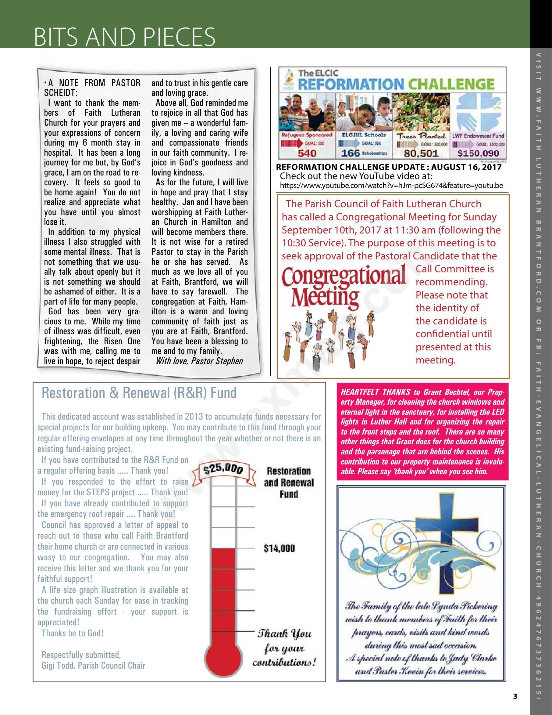Echoes Magazine - Faith Evangelical Lutheran Church