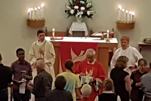 Holy Communion during Reformation Sunday service.