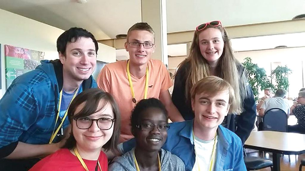 Julia Hilgendag (top right) and friends at the ELCIC National Convention.