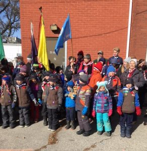 Remembrance Day Great representation from 20th Faith for Brant Scouting
