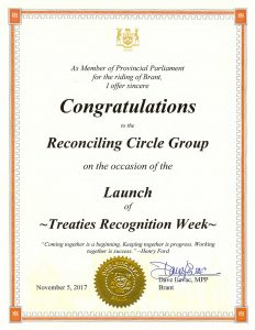 Treaties Recognition Week recognition
