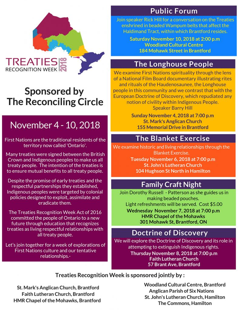 Treaties Recognition Events Poster Official 2018